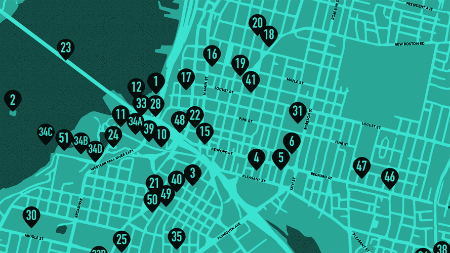 FALL RIVER CULTURAL GUIDE MAP